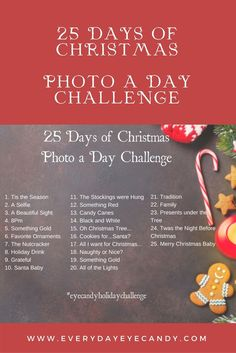 It's the 3rd annual 25 days of Christmas Photo a Day Challenge! Join us on Instagram with the hashtag #eyecandyholidaychallenge #photoaday #instagram #christmas #photography via @LaShawn Wiltz