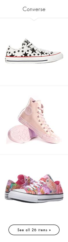 """""""Converse"""" by marock ❤ liked on Polyvore featuring shoes, sneakers, converse, star sneakers, converse trainers, star shoes, rubber toe shoes, converse footwear, green and flat shoes"""