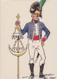 Musician Voluntarios de Cataluna(Light Infantry) 1807 serving with the Romana Division in Germany