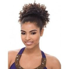 Drawstring Ponytail Hairstyles For Black Hair - Many ladies consider their hair to be their crowning glory, and many ladies Crochet Braids Hairstyles, Permed Hairstyles, Modern Hairstyles, Short Ponytail, Weave Ponytail, Hair Puff, Puff Hairstyle, Curly Hair Styles, Natural Hair Styles
