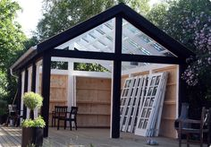 "Get terrific pointers on ""greenhouse diy"". They are available for you on our site. Hot Tub Garden, Glass Garden, Garden Structures, Outdoor Structures, Outdoor Spaces, Outdoor Living, Underground Living, Gazebo, Pergola"