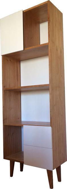 biblioteca escandinava diseño madera paraiso