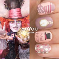 Disney Alice in wonderland nails
