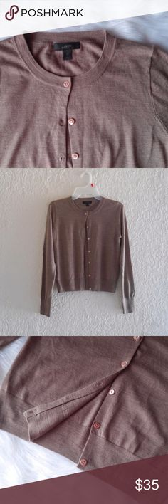 """J. Crew Tilly Cardigan Sweater Size Small. 100% Merino Wool. Hits slightly above hip. Rib trim at neck, cuffs and hem. Preowned. Open to Offers :)  Pit to pit: 16"""" Length: 20"""" Sleeves: 24""""  *a0071 J. Crew Sweaters Cardigans"""