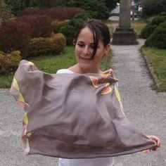 Hedvábný šátek 74x74 cm Sari, Ruffle Blouse, Tops, Women, Fashion, Saree, Moda, Fashion Styles, Fashion Illustrations
