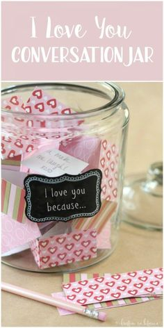 Make an I Love You Jar for each person of the family. As you think of a reason why you love them, write it down and put it in the jar. On Valentine's Day, read all the reasons why your family loves you.
