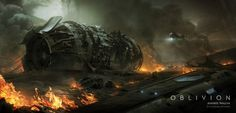 Odyssey Module Crashsite - concept art for Oblivion by Andree Wallin