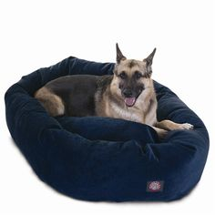 """Majestic Pet Products 52"""" Navy Villa Collection Micro-Velvet Bagel Bed By Majestic Pet Products"""