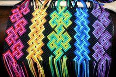 work in progress by nimuae on DeviantArt Friendship Bracelet Patterns, Friendship Bracelets, Macrame Knots, Over The Rainbow, Celtic Knot, Bracelet Designs, Blue And Silver, How To Look Pretty, Pink Purple