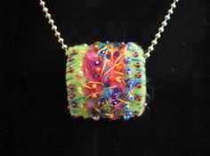 Felt Bead love the creativity of this bead. Inspired to embellish sooner of mine.