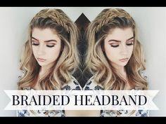 Braided Headband Hairstyle - YouTube