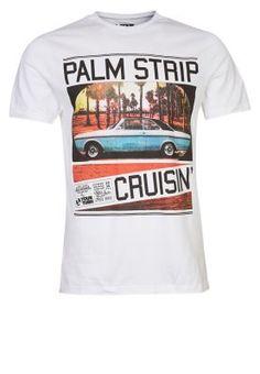 Camiseta print - blanco