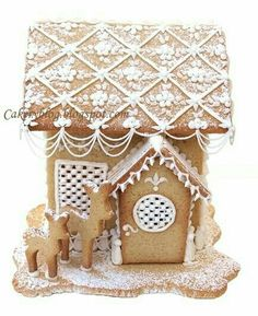"Love this delicate ""gingerbread"" decorating!"