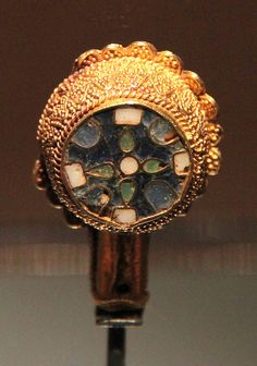 Minster Lovell Jewel in the Ashmolean Museum, Oxford. Anglo-Saxon. 9th Century.