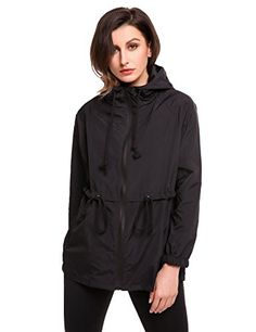 New Trending Outerwear: Meaneor Women's Outdoor Rain Jacket Cycling Waterproof Lightweight Raincoat (Black S). Special Offer: $29.99 amazon.com Occasions:Wlaking,running,mountaineer,or as causal winderbreak. Features: Breathable Performance helping you stay dry. Sun Protection. Shields you from sun's harmful rays. Size Measurement: S...