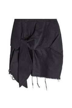 Frayed and Knotted Cotton Mini Skirt | Marques' Almeida
