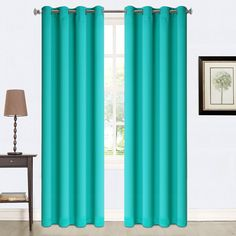 turquoise thermal insulated blackout curtains 524_ www