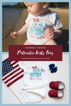 Whether you're headed to the beach or to the backyard this 4th of July take Hmarr Designs with you. Our high-quality cotton/poly tees and bodysuits are perfect for all of your summer outings.   #patriotickids #4thofjuly #fourthofjuly #kidsfashion