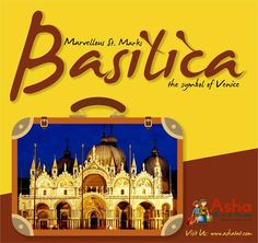 An astounding monument & a marvel of architecture, the Basilica draws a rich history of St. Mark's remains. The arch's of the facade decorated by Byzantine mosaics. The Basilica indeed creates a substantial view of its eastern past!! Join us to the beautiful journey of Venice, the floating city!! Visit us: www.ashatat.com. #Ashatours #Travels #Venice #StMarks #Basilicas #Marvellous #Astounding #Europe #Beautiful