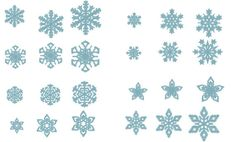 Single 8 Snowflakes, 8 types  - machine embroidery designs - multiple sizes, for hoop 4x4 mini sizes INSTANT DOWNLOAD