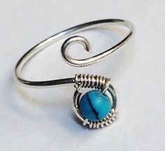 Turquoise Ring  Turquoise Jewelry  Gemstone Ring  December