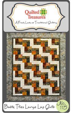 115: Batik Tiles Lap Quilt Pattern