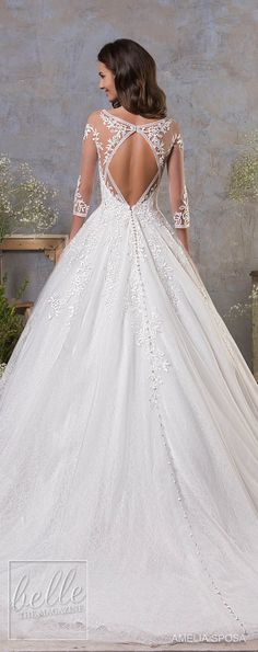 Amelia Sposa Fall 2018 Wedding Dresses - ball gowns #weddingdress #bridalgown #bridal #weddinggown #bridalcouture