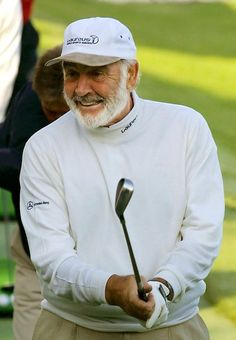 Sir Sean Connery Our Residential Golf Lessons are for beginners, Intermediate & advanced. James Bond, Sean Connery 007, Scottish Actors, British Actors, Mens Golf Outfit, Golfer, Golf Lessons, Roger Moore, Old Hollywood