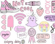 Pink cute tumblr sticker sheet Etsy