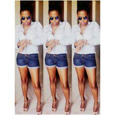 Denim on denim h&m jeans short mudd jeans shirt... simple wknd
