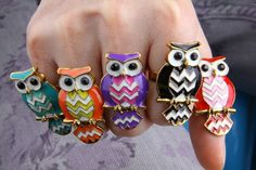 Find More Rings Information about Awesome Colorful Oil Owl Inlaid Crystal Rings for Girls, owl ring jewelry for ladies, unique owl ring for women,High Quality Rings from Addfashion on Aliexpress.com