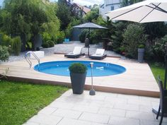 Outdoor Pool, Outdoor Spaces, Outdoor Decor, Modern Backyard, Backyard Landscaping, Stock Tank Pool, Round Pool, Inside Garden, Different Plants
