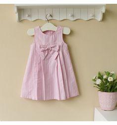 Mom and Bab Woven Dress - Pink Stripes - sadinashop.com  Dress atau gaun cantik untuk bayi dan anak perempuan.