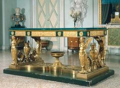 France, 1819, Pierre-Philippe Thomire (1751–1843). Bronze, gilded, malachite.