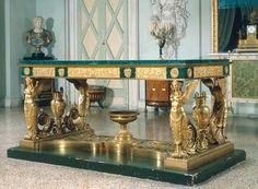 France, 1819, Pierre-Philippe Thomire (1751–1843). Bronze, gilded, malachite.