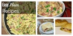 Easy Ham Recipes, perfect for using up any leftovers!