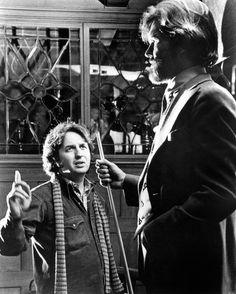 "Michael Cimino and Kris Kristofferson on the set of ""Heaven's Gate"" (1980). DIRECTOR: Michael Cimino."