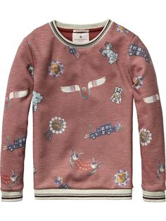 Neoprene Sweater | sweat | Girls Clothing at Scotch & Soda
