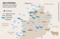 Milch regional: Zulieferer der Upländer Bauernmolkerei.