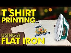 How to Print T shirt at Home using a Flat Iron - YouTube Print Your Photos, Flat Iron, Fashion Hacks, Flats, Boys, Youtube, Prints, T Shirt, Articles