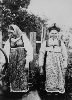 Jämaja women, the Photo by E. Baltic Region, Vintage Ephemera, Fashion History, Printing On Fabric, Folklore, Collection, Fabrics, Printed, Women