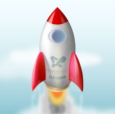 Create a rocket ship in Illustrator - some specifics about gradients, etc. that are helpful and simple