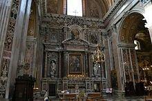 Cappellone di Sant'Ignazio di Loyola.  Chiesa del Gesù Nuovo Napoli