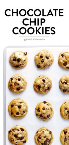 The BEST Chocolate Chip Cookies - Chocolate Chip - Ideas of Chocolate Chip #ChocolateChip - My all-time favorite chocolate chip cookie recipe! These chocolate chip cookies are perfectly soft and chewy and buttery loaded up with semisweet chocolate chips and completely irresistible. | Gimme Some Oven #chocolate #cookies #baking