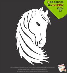 Horse mane dxf - Free dxf files, free cut files, plasma cut files - DXF1.com