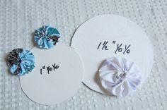 crafts from yo-yos | Fabric Yo Yos How to Make Fabric Yo Yos