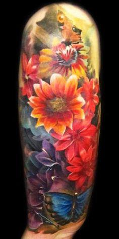 Realism Flower Tattoos | Tattoo Picture Tattoo Artist - Piotr Deadi Dedel - flowers tattoo