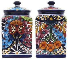<3 Talavera Kitchen Canisters - $109 for a set of 3.