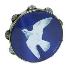 "Remo Tambourine, 8"", Religious Dove (Package Of 2) by Remo. $70.75. Let your praises sore, with this Dove tambourine. The white dove stands out on the blue background of this 8"" pre-tuned Mylar head accented in gold trim. There are 8 sets of steel jingles in the white frame. The thumb hole in the frame lets you apply pressure to the head and play this like a deff. Tambourines are versatile and can be rapped, shaken, tapped and beat to create as many different rhythms..."