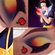 Maquiagens em croqui dos personagens da Disney